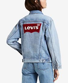 Levi's® Cotton Batwing Ex-Boyfriend Denim Jacket