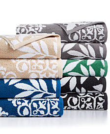 Charter Club Elite Cotton Medallion and Leaves Towel Collection, Created for Macy's