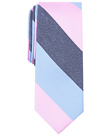 Bar III Men's Pierce Stripe Skinny Silk Tie, Created for Macy's