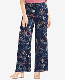 Vince Camuto Garden Heirloom Floral Wide-Leg Pants