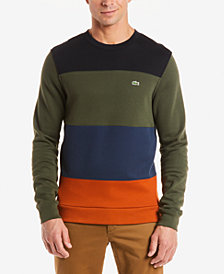 Lacoste Men's Colorblocked Brushed Fleece Sweatshirt