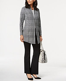 Alfani A-Line Jacket, High-Low T-Shirt & Straight-Leg Trousers, Created for Macy's