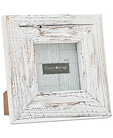 """Philip Whitney 4"""" x 4"""" White Barn Square Picture Frame"""