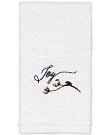 Modern Farmhouse Cotton Embroidered Fingertip Towel