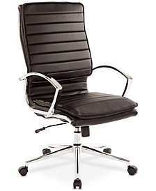 Fawcytt Faux-Leather Chair, Quick Ship
