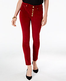 MICHAEL Michael Kors Button-Fly Corduroy Pants