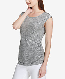 Calvin Klein Ruched-Side Top