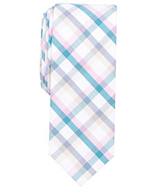 Bar III Men's Double Multi-Check Skinny Tie, Created for Macy's