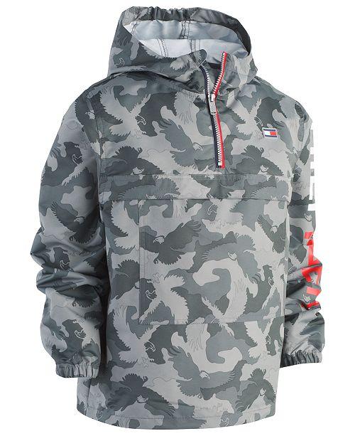 675c2efe7154 Tommy Hilfiger Big Boys Frasier Pullover Hooded Windbreaker Jacket ...