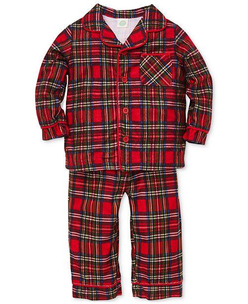 260edbf34 Little Me Baby Boys 2-Pc. Plaid Pajama Set   Reviews - Sets ...