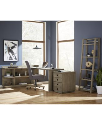 Ridgeway Home Office Furniture, 4-Pc. Set (Return Desk, Peninsula USB Outlet Bookcase, Desk Chair & Mobile File Cabinet), Created for Macy's
