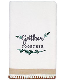 Avanti Modern Farmhouse Cotton Embroidered Hand Towel