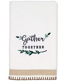 Avanti Modern Farmhouse Cotton Embroidered Hand Towel