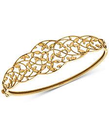 Openwork Vine Bangle Bracelet in 10k Gold