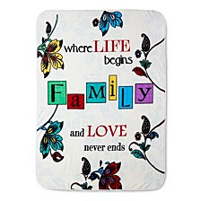 High Pile Oversized Throws Collection, Quotes & Inspirational Words