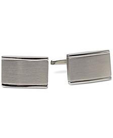 Men's Silver-Tone Colorblocked Cuff Links
