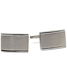 Kenneth Cole Reaction Men's Silver-Tone Colorblocked Cuff Links