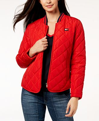 Tommy Hilfiger Quilted Bomber Jacket Jackets Women Macy S