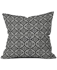 Little Arrow Design Co Modern Moroccan in Charcoal Throw Pillow