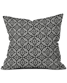 Deny Designs Little Arrow Design Co Modern Moroccan in Charcoal Throw Pillow