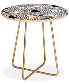 Deny Designs Camilla Foss Circles In Blue II Round Side Table