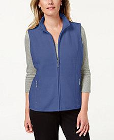 Karen Scott Petite Zeroproof Zipper Vest, Created for Macy's