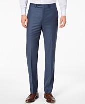 e29cf5da Calvin Klein Men's Slim-Fit Stretch Blue Neat Suit Pants