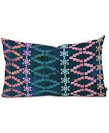 Deny Designs Schatzi Brown Aviana Stripe Green Oblong Throw Pillow