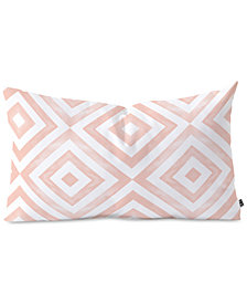 Deny Designs Little Arrow Design Co Watercolor Diamonds In Pink Oblong Throw Pillow