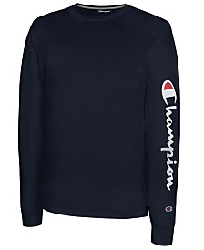 Champion Men's Long-Sleeve Logo T-Shirt