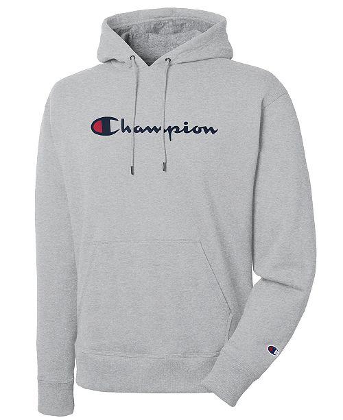 11b985fe0a59 Champion Men's Script Logo Powerblend Hoodie & Reviews - Hoodies ...