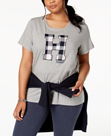 Tommy Hilfiger Plus Size Appliqué T-Shirt, Created for Macy's