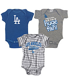 Soft As A Grape Los Angeles Dodgers Huge Fan 3-Piece Set, Infants (12-24 Months)