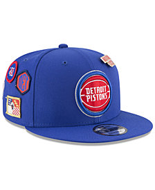 New Era Boys' Detroit Pistons On-Court Collection 9FIFTY Snapback Cap