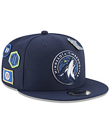 New Era Boys' Minnesota Timberwolves On-Court Collection 9FIFTY Snapback Cap