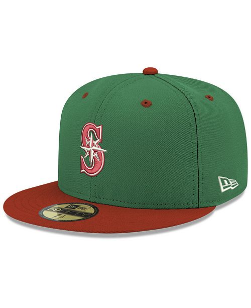 online retailer 937b5 38caf New Era Seattle Mariners Green Red 59FIFTY FITTED Cap ...