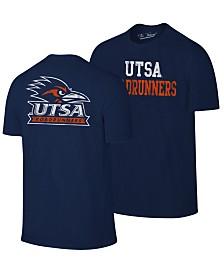 Retro Brand Men's University of Texas San Antonio Roadrunners Team Stacked Dual Blend T-Shirt