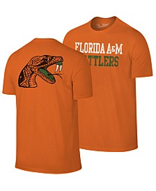 Retro Brand Men's Florida A&M Rattlers Team Stacked Dual Blend T-Shirt