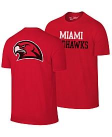 Retro Brand Men's Miami (Ohio) Redhawks Team Stacked Dual Blend T-Shirt