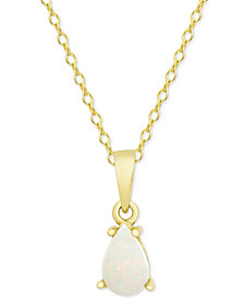 "Opal 18"" Pendant Necklace (1/2 ct. t.w.) in 18k Gold-Plated Sterling Silver"