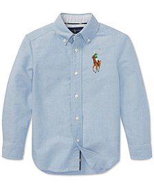Polo Ralph Lauren Little Boys Big Pony Cotton Oxford Shirt