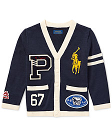Polo Ralph Lauren Little Boys V-Neck Cotton Cardigan