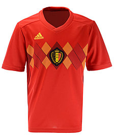 adidas Belgium Soccer National Team Home Stadium Jersey, Big Boys (8-20)