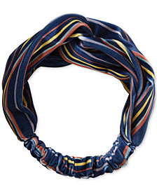 Lucky Brand Stripe-Print Velvet Headband, Created for Macy's
