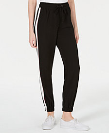 Be Bop Juniors' Striped Jogger Track Pants