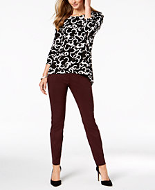 Alfani High-Low Top & Skinny Pants, Created for Macy's