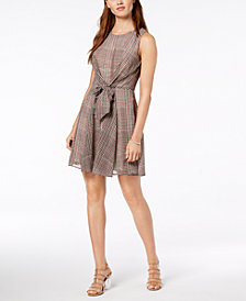 Maison Jules Tie-Front Fit & Flare Dress, Created for Macy's