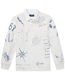 Polo Ralph Lauren Big Boys Graphic Cotton Rugby Shirt