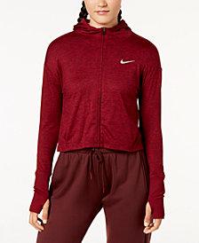 Nike Element Zip Cropped Running Hoodie