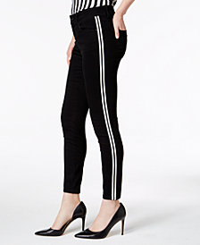 I.N.C. Racing-Stripe Skinny Jeans, Created for Macy's